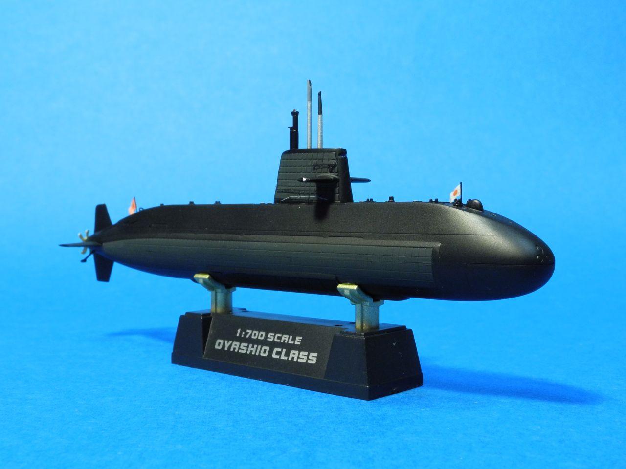 1/700おやしお型潜水艦:模型ダ...
